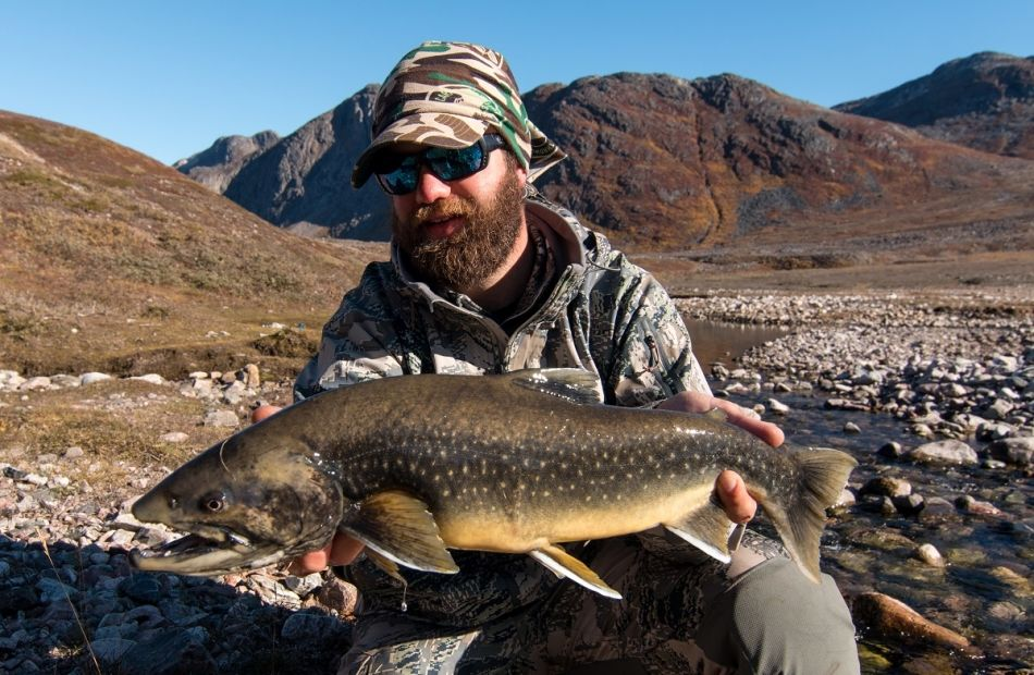 Arctic char fishing in Greenland
