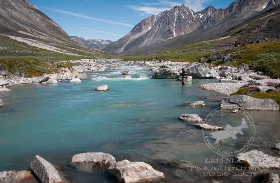 Fly fishing in the wilderness of Greenland