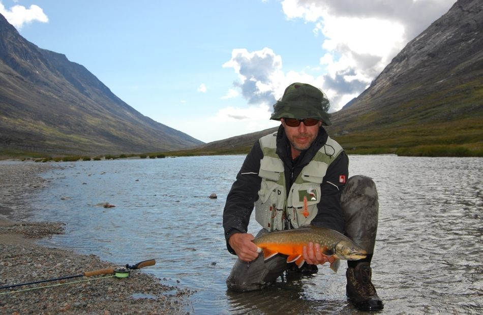 Fly fishing in Greenland