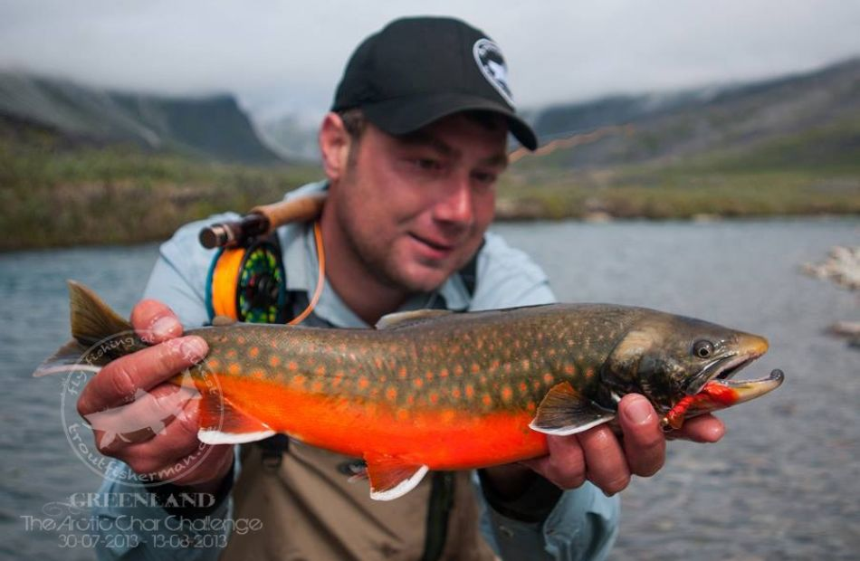 Fly fishing in Greenland for arctic char and salmon